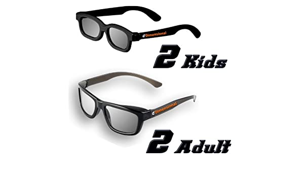 ED CINEMA FAMILY 4 Pack DUAL PLAY LG AG-F310DP AG-F400DP Compatible 3D Glasses !