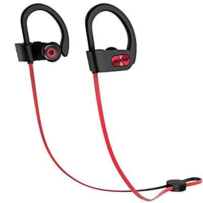 Mpow Flame [5 Pcs Set] Bluetooth Headphones with Armband, Car Charger, 2-in-1 Charging Cable, Carrying Pouch, Waterproof IPX7 Wireless Earbuds Sport, Richer Bass Hi-Fi Stereo In-Ear Earphones w/ Mic