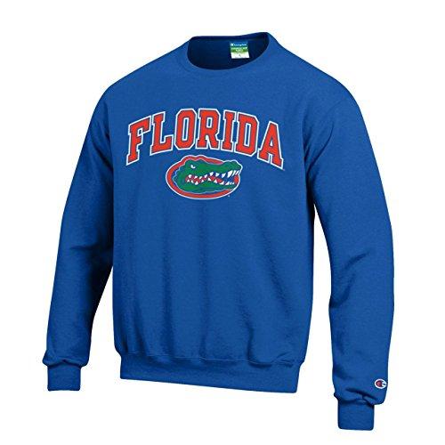 Graphic Crew Neck Sweatshirt - Campus Colors Florida Gators Adult Arch & Logo Gameday Crewneck Sweatshirt - Royal, Large