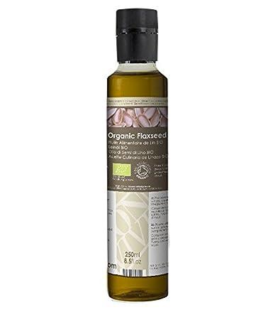 Olio Alimentare di Semi di Lino Vergine - Naturale al 100% - 250ml ...