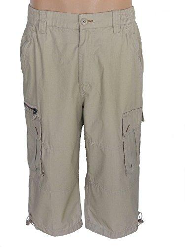 Herren Shorts im Cargo-Stil, Bermuda, Bermudas, kurze Hose, 100 % Baumwolle, beige, camel, AM-HE-MIAN-ca