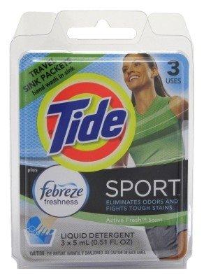 Tide Travel Sport 3-Pack Sink Detergent (Pack of 12)
