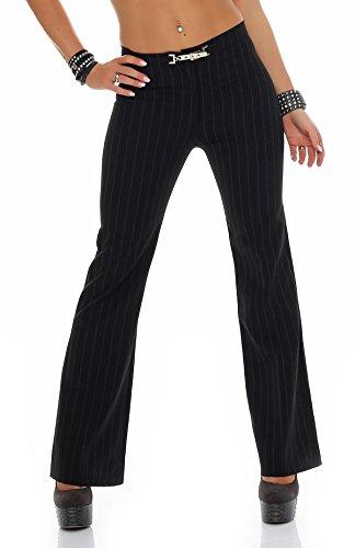 stahl-moden - Pantalón - Campana - Básico - para mujer negro