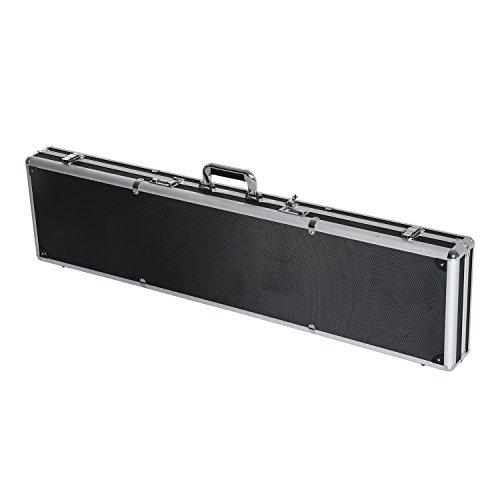 44″ Long Gun Case Aluminum Locking Rifle Pistol Shotgun St