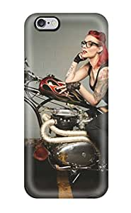 Jason A Nguyen Scratch-free Phone Case For Iphone 6 Plus- Retail Packaging - Girls And Motorcycles