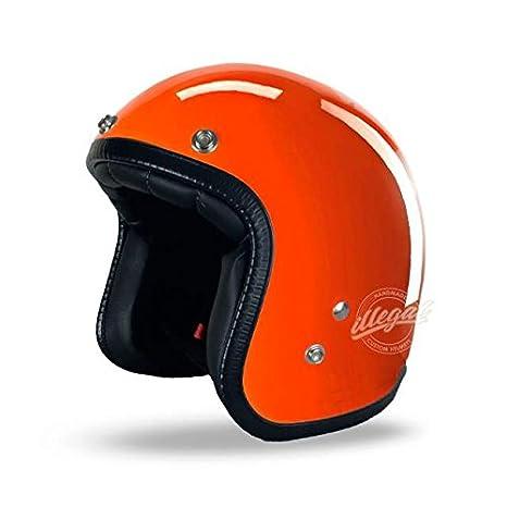 Casco Jet abierto Bikers para moto Custom Chopper Cafe Racer Harley Davidson Honda Yamaha Suzuki Kawasaki