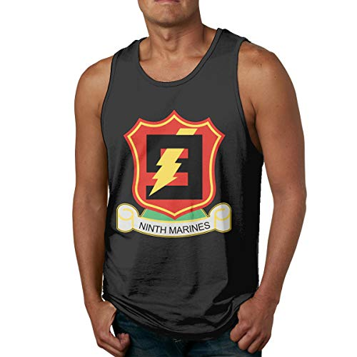 DFGRTE US 9th Marine Regiment Men's Sleeveless Workout Muscle Bodybuilding Tank Tops Shirts -