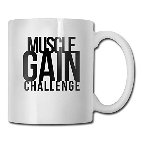 UUKI Muscle GAIN Challenge.PNG 11oz Coffee Mug Funny Cup Tea Cup Birthday Ceramic