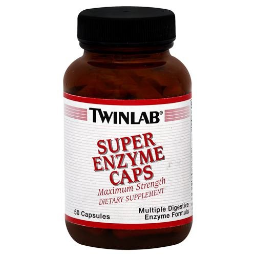 TWINLAB SUPER ENZYME MAX STRENGTH, 50 CAP (Twinlab Super Enzyme Caps)