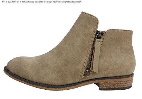 Product image of City Classified Women's Closed Toe Zipper Tassel Low Heel Ankle Boot