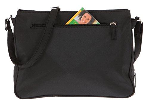 Black noir Schwarz Noir Sac Schwarz l'épaule femme à à Medium Alessandro porter Black pour 3054 Noir C81P77f