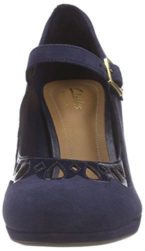 ClarksChorus Music - Zapatos de Tacón mujer azul (Navy Suede)