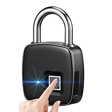 Huella dactilar candado, Cerradura biometrica touch 1 segundo Fast Unlock, candado de seguridad con