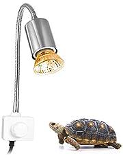 Decdeal Basking Lámpara de Calor halógena UVA UVB de 25W para Reptiles Acuario de Tortuga Lagarto