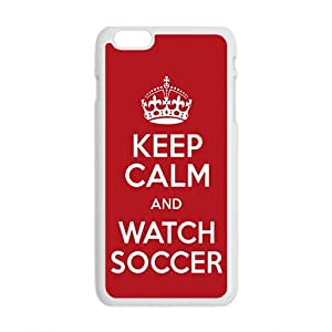 Keep Calm And Watch Soccer Fahionable And Popular Back Case Cover For Iphone 6 Plus