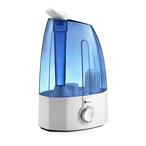 TaoTronics Ultrasonic Humidifiers, Cool Mist Humidifier for Home Bedroom with 3.5L/0.95 gallon Capacity, Two 360° Rotatable Mist Outlets , Classic Dial Knob Control, US 110V