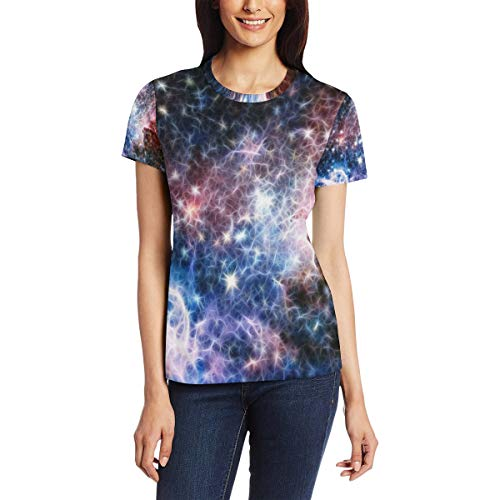 Dragon Sword Infrared Light Carina Nebula Women's Summer Short Sleeve Casual Tee T-Shirt