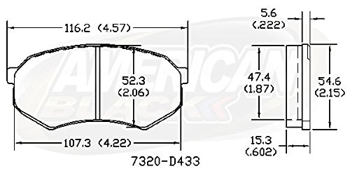 Toyota Pickup 2WD SRW 89-91 OE Premium Quality American Black ABD433M Professional Semi-Metallic Front Disc Brake Pad Set Mitsubishi Fuso FE 90-95 Perfect fit Tacoma 2WD 95-04