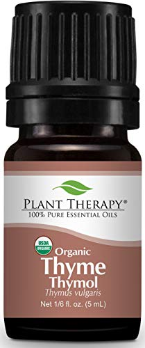 Plant Therapy Thyme Thymol Organic Essential Oil 5 mL (1/6 oz) 100% Pure, Undiluted, Therapeutic Grade