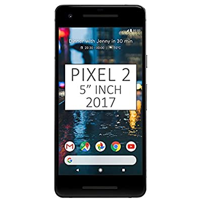 "Google Pixel 2 (2017) G011A 64GB, 5"" inch Factory Unlocked Android 4G/LTE Smartphone (Just Black) - International Version"