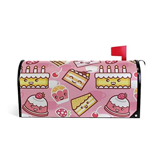 Grapefruit Boy Cake Dessert Magnetic Mailbox Cover Size-18