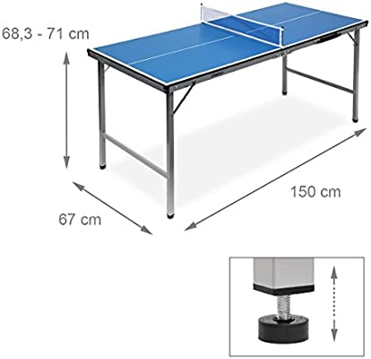 b0a77aaf4 Relaxdays Mesa Ping Pong Exterior Plegable con Red