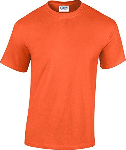 Gildan 5000pesado algodón adultos camiseta Rosa diseño de heliconia X-Large Naranja
