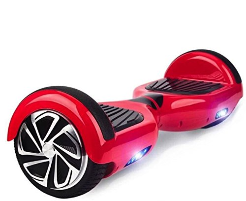 Hoverboard UL 2272 Certified 6.5'' with LED Lights Self Balancing Wheel Electric Scooter Free Carrying Bag - Red