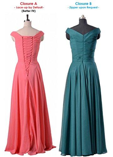 Shoulder Bridesmaid Party Dress Gown Evening Long 57 DaisyFormals Off Dress BM7888 silver aq7w1E6