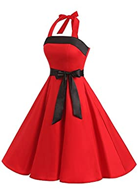 Find Dress Women Strapless Retro 1950s Vintage Prom Dresses Lace-Up