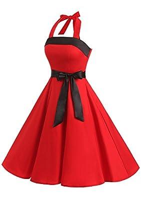 Find Dress Women Strapless Retro 1950s Vintage Prom Dresses Lace-Up