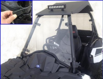 Full Windshield for the Polaris Sportsman Ace by EMP 12482