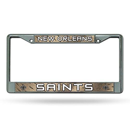 - Rico New Orleans Saints NFL Chrome Metal License Plate Frame