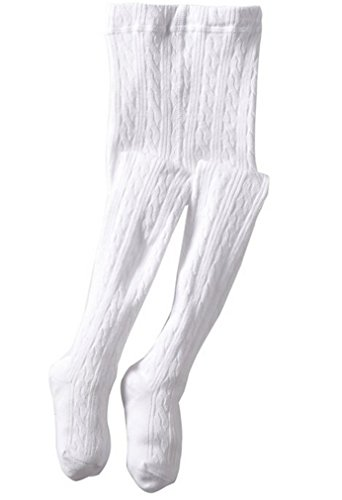 Jefferies Girls Classic Cotton Cable Tights Sizes from 2 Years to 14 Years -