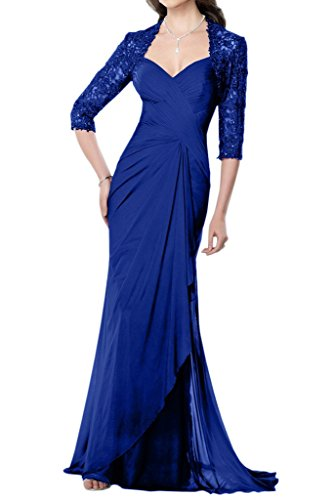 Mother Blue Chiffon Training Angel with Dress of the Jacket Bride Royal Women's Bride wZ7SqxnSIF