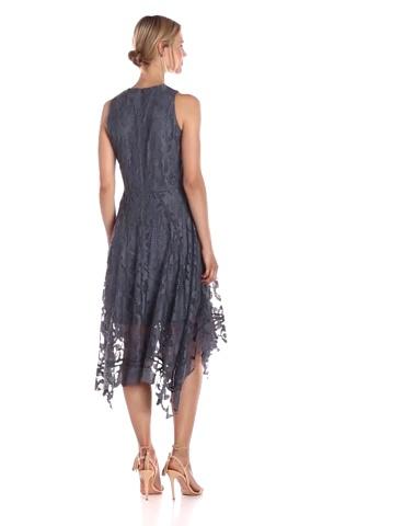 Taylor Dresses Womens Alternative Hem Lace Midi Dress