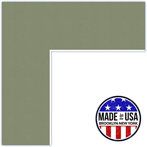 Price comparison product image 15x19 Palm / Basil Custom Mat for Picture Frame with 11x15 opening size (Mat Only, Frame NOT Included)