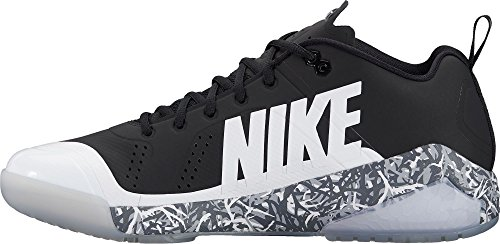 Nike Mens Force Zoom Forel 4 Grasmat Baseball Trainers Ons) Zwart / Wit-wolf Grijs