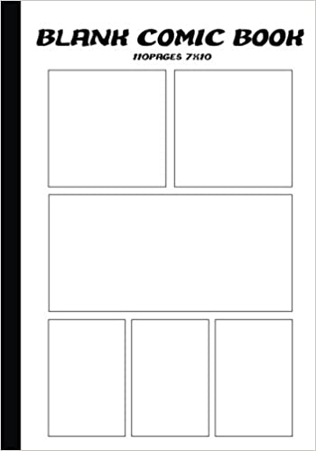 Blank Comic Strip : Blank Comic Book - 7 X10 With 6 Panel(Multi