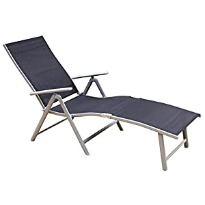 Toucan outdoor deluxe aluminum beach yard - Folding outdoor chaise lounge ...