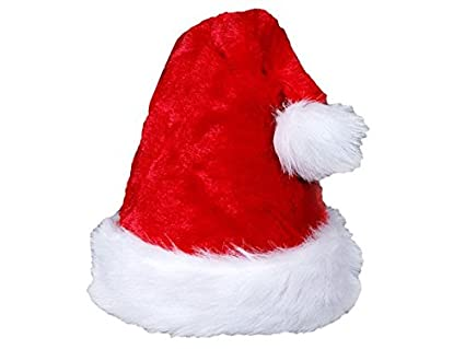 Alsino Cappello Babbo Natale peluche cappellino a taglia unica per adulti di  colore diversi con bordino 85d6ef682683