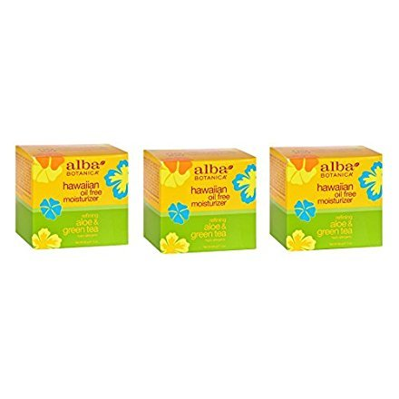 Aloe & Green Tea Oil Free Moisturizer - Alba Botanica Aloe & Green Tea Oil Free Moist 3 oz. (Set of 3)