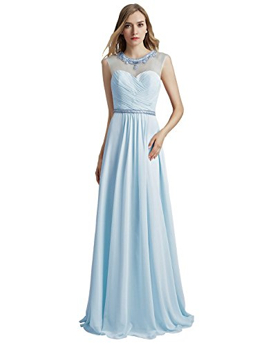 Long Prom Women Blue for Clearbridal sky Lx510 Party Dress Fomral Gowns HxWdf6d