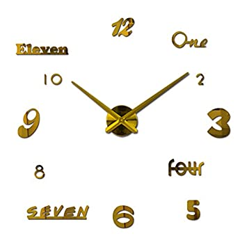 New Wall Clock Quartz Watch Reloj De Pared Modern Design Large Decorative Clocks Europe Acrylic Stickers