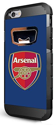 International Soccer Arsenal iPhone 6 Bottle Opener Case, One Size, Black by Hoot²