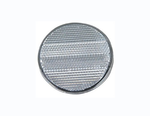 Clear Front Reflector. Bike part, bicycle part, bicycle reflector, bike reflector, lowrider bike part, lowrider bicycle part, beach cruiser, bmx, chopper, stretch.