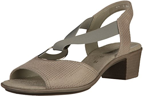 Jenny WoMen Ballina T-Bar Sandals, Schwarz Weite H Grey (Smoke)
