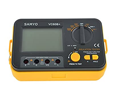 Samyo Digital Insulation Resistance Capacitance Tester Megger Megohmmeter MegOhm DCV ACV Meter