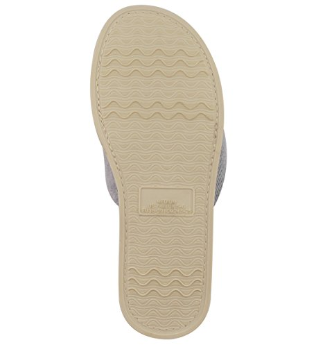 Open Terrycloth Memory Slide Comfy HomeIdeas Summer Toe Spring Women's Shoes Foam Gray Velvet House Indoor Lining with Slippers Hw4tq5qg
