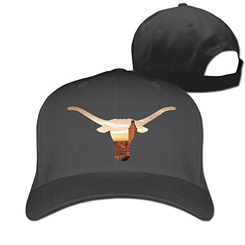 ZULA New Design Adult University Of Texas Austin UT-Austin Bevo Sun Visor Cap Black (Make Maleficent Horns)